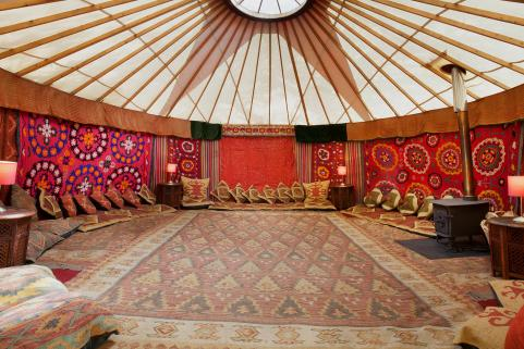 18ft yurt with sumptuous decor