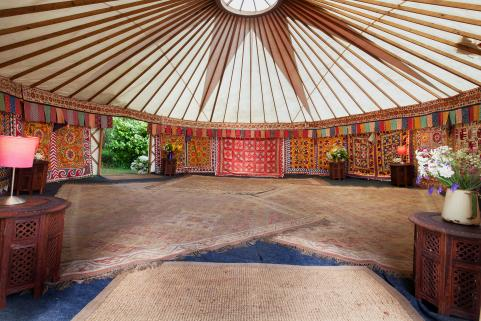 24ft yurt with stunning decor