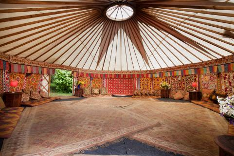 24ft yurt with sumptuous decor
