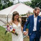Beautiful woodland wedding in our 32ft yurt. #yurtwedding #woodlandwedding #yurts #wedding